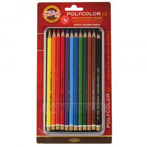 Lápis de Cor Polycolor 12 cores