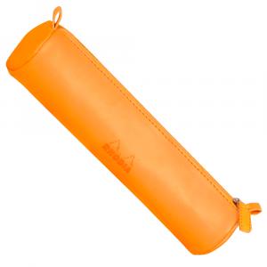Estojo Redondo de Couro Rhodia Orange