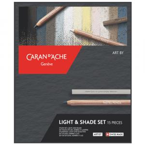 Estojo Light & Shade Caran d'Ache com 15 Peças