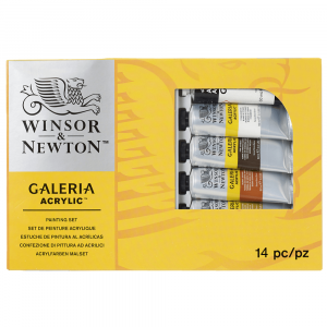 Estojo Tinta Acrílica Galeria Winsor & Newton 15 Peças
