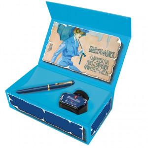 Estojo Caneta Tinteiro Pelikan M120 Iconic Blue Pena M