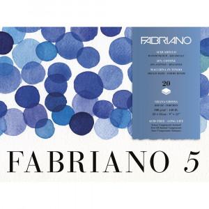 Bloco de Papel Para Aquarela Fabriano 5 GG 300g/m² 23x31cm
