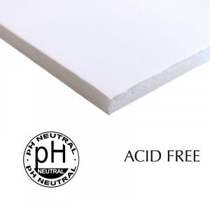 Papel Foam Board Livre de Ácido 70x100cm Branco 5mm