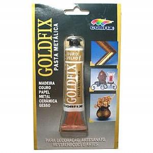 Goldfix Pasta Metálica 20ml Corfix Ouro Velho