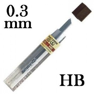 Mina Grafite Pentel 0.3mm HB