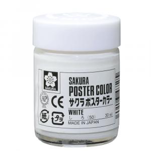 Tinta Guache Sakura Poster Color 30ml 50 White