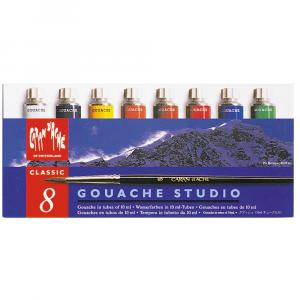 Tinta Gouache Studio Caran d'Ache 8 Cores Tubos