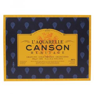 Bloco de Papel Para Aquarela Heritage Canson TF 300g/m² 31x41cm
