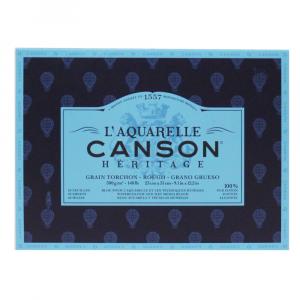 Bloco de Papel Para Aquarela Heritage Canson TT 300g/m² 23x31cm