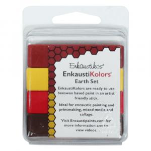 Kit Encáustica Terra 4 Cores Enk7238 Enkaustikos