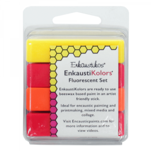 Kit Encaustica Fluorescent 4 Cores Enk4497 Enkaustikos