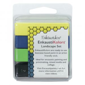Kit Encáustica 4 Cores Paisagens Enk5647 Enkaustikos