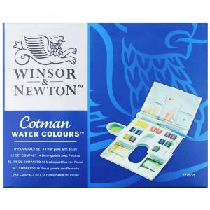 Aquarela Winsor & Newton Cotman Compact Set 14 Cores