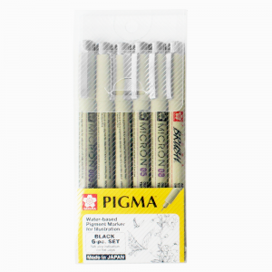 Kit Pigma Micron & Brush 06 Canetas Sakura