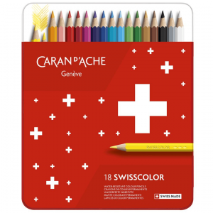 Lápis de Cor Swisscolor Caran D'Ache 18 Cores