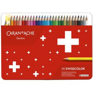 Lápis de Cor Swisscolor Caran D'Ache 30 Cores
