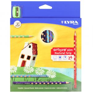 Lápis de Cor Groove Slim Lyra 24 Cores