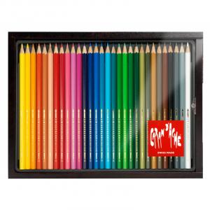 Lápis Aquarelável Swisscolor Caran D'Ache 30 Cores Estojo Madeira