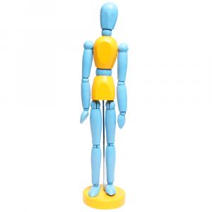 Manequim Articulado 30cm Color Azul e Amarelo
