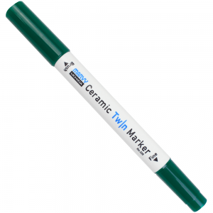 Caneta Para Cerâmica Twin Marker 04 Verde
