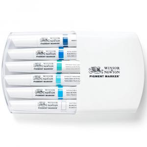 Marcador Pigment Marker Winsor & Newton Tons de Azul