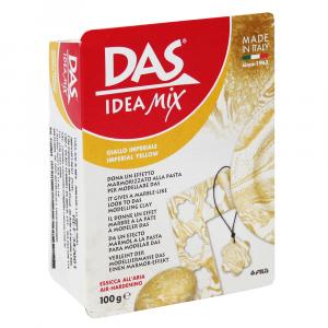 Massa de Modelar Efeito Marmorizado Idea Mix DAS 100g Imperial Yellow