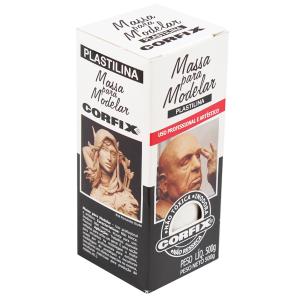 Massa Plastilina Para Escultura Corfix 500g 301 Branco