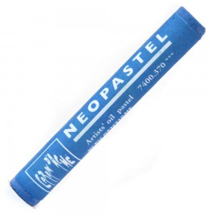Pastel Oleoso Neopastel Caran d'Ache 370 Gentian Blue