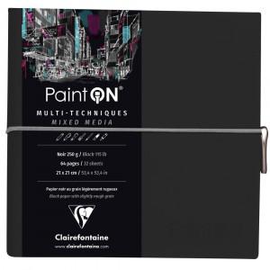 Bloco de Papel Negro Paint On Clairefontaine Multi-Técnica 250g/m² 19x19cm
