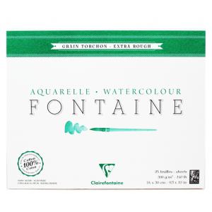 Papel Para Aquarela Fontaine Torchon 24x30cm 300g Clairefontaine