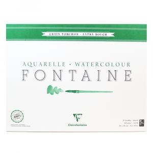 Papel Para Aquarela Fontaine Torchon 36x48cm 300g Clairefontaine