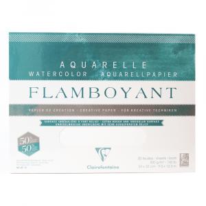 Papel Para Aquarela Flamboyant 31x41cm Clairefontaine