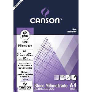 Bloco de Papel Milimetrado A4 Canson 60g/m²