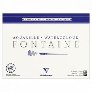 papel para aquarela 300g clairefontaine fontaine