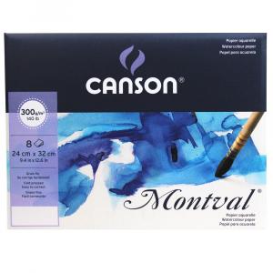 Pochette Montval Canson 24X32cm 300g/m² 8 Folhas