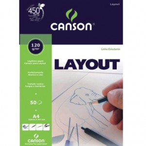 Bloco de Papel Layout Canson 120g/m²  A4