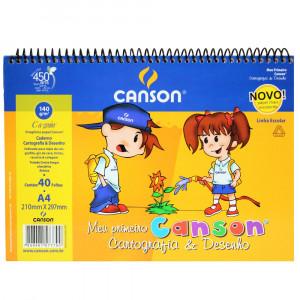 Caderno de Desenho Escolar Canson 140 g/m²