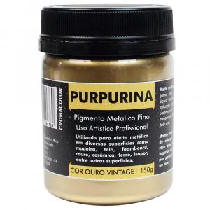 Purpurina em Pó Ouro Vintage 150g Cromacolor