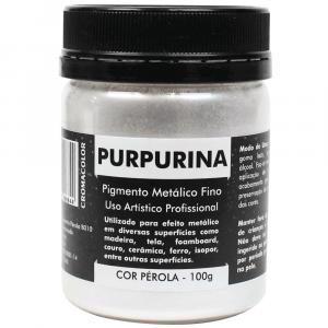 Purpurina em Pó Pérola 100g Cromacolor