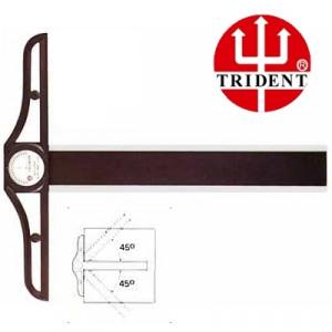 Régua T   80cm com Transferidor Trident 5808 - Cabeçote Móvel