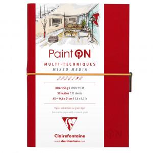 Sketchbook Multi Técnicas Paint On A5 Clairefontaine