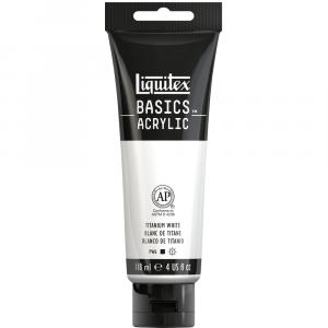 Tinta Acrílica Liquitex Basics 118ml 432 Titanium White