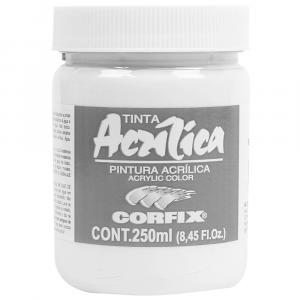 Tinta Acrílica Corfix 250ml 102 Branco Titânio G1