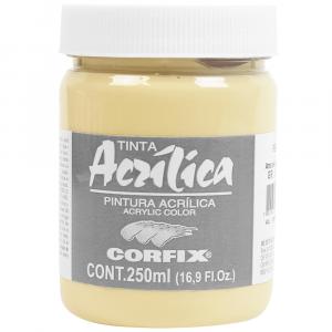 Tinta Acrílica Corfix 250ml  47 Amarelo Nápoles G1