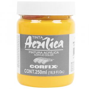 Tinta Acrílica Corfix 250ml  51 Amarelo Escuro G1