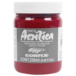 Tinta Acrílica Corfix 250ml  59 Carmim G2