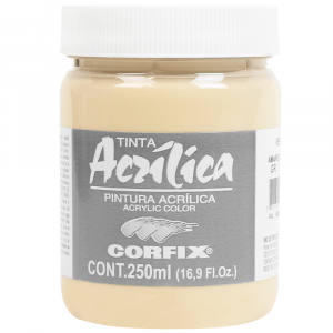 Tinta Acrílica Corfix 250ml  76 Amarelo Pele G1