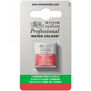 Tinta Aquarela Profissional Winsor & Newton Pastilha S4 903 Cadmium-Free Scarlet