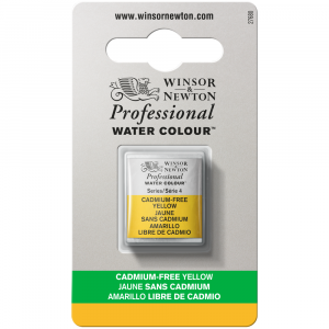 Tinta Aquarela Profissional Winsor & Newton Pastilha S4 890 Cadmium-Free Yellow