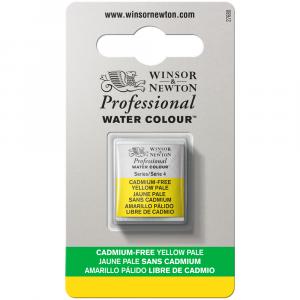 Tinta Aquarela Profissional Winsor & Newton Pastilha S4 907 Cadmium-Free Yellow Pale